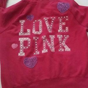 PINK Victoria's Secret Tops - VS PINK Full Zip Hoodie With Bling
